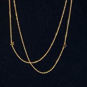 Jennifer Zeuner gold tone Mika necklace stars